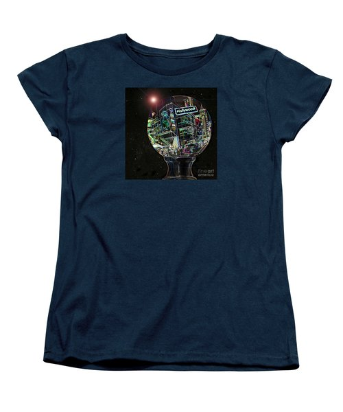 Women's T-Shirt (Standard Cut) featuring the photograph Hollywood Dreaming - Walk Of Fame by Cheryl Del Toro