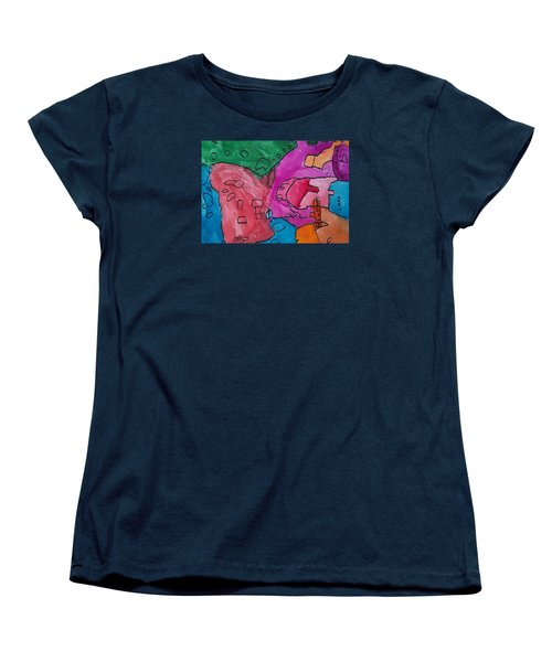 Women's T-Shirt (Standard Cut) featuring the painting Hollywood Studios 3 by Artists With Autism Inc