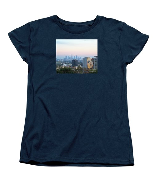 Women's T-Shirt (Standard Cut) featuring the photograph Hollywood View From Yamashiro's by Cheryl Del Toro