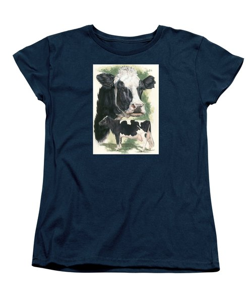 Holstein Women's T-Shirt (Standard Cut) by Barbara Keith