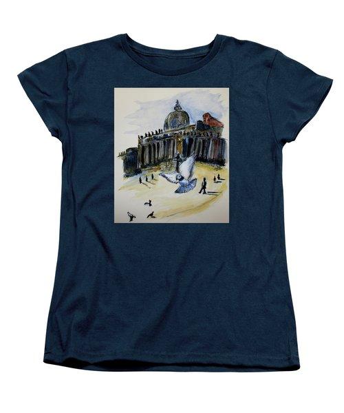 Holy Pigeons Women's T-Shirt (Standard Cut) by Clyde J Kell
