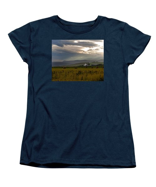 Home By The Sea Scotland Women's T-Shirt (Standard Cut) by Sally Ross