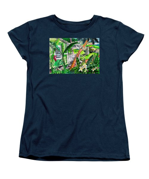Women's T-Shirt (Standard Cut) featuring the painting Home For The Holidays by Eric Samuelson