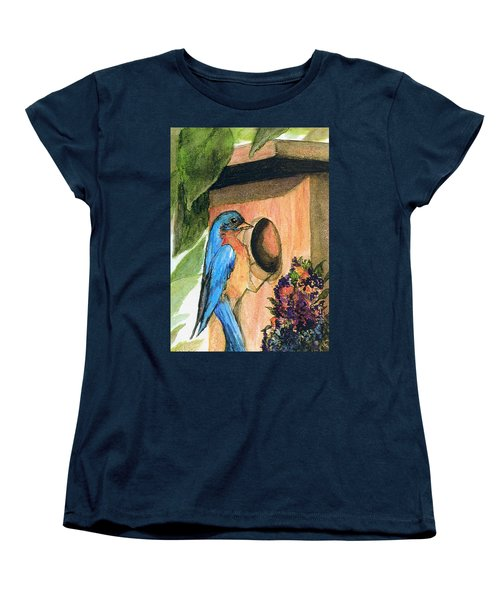 Women's T-Shirt (Standard Cut) featuring the painting Home Sweet Home by Gail Kirtz