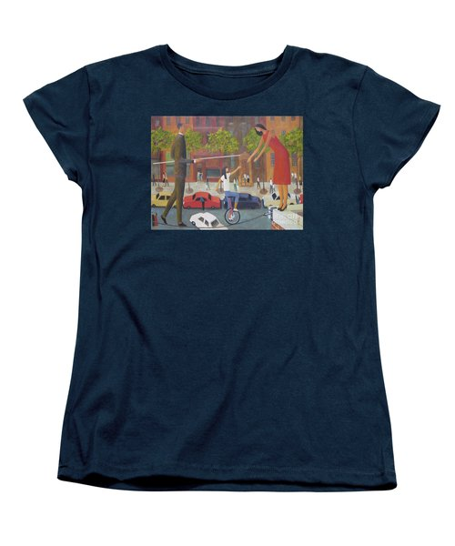 Women's T-Shirt (Standard Cut) featuring the painting Homecoming by Glenn Quist