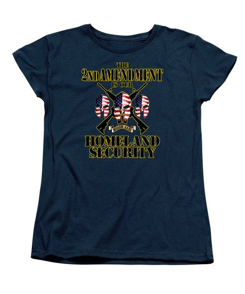 Women's T-Shirt (Standard Cut) featuring the tapestry - textile Homeland Security by Don Olea