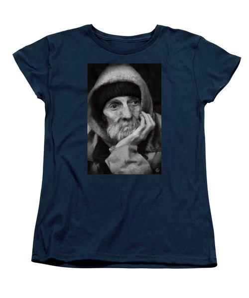 Women's T-Shirt (Standard Cut) featuring the digital art Homeless by Gun Legler