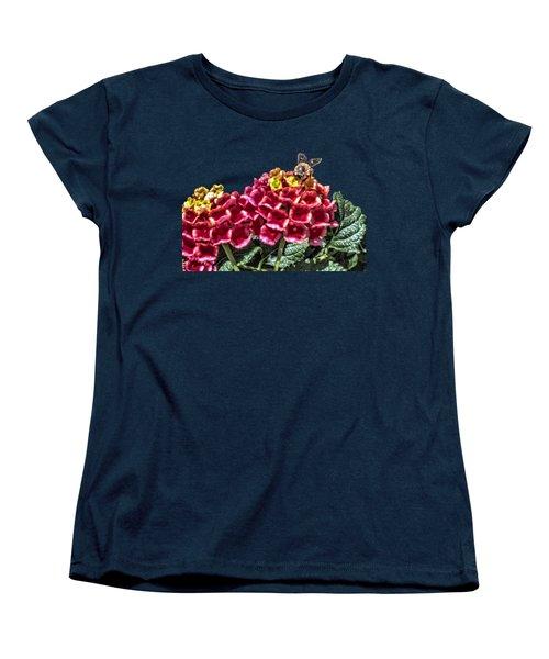 Honey Bee On Flower Women's T-Shirt (Standard Cut) by Daniel Hebard