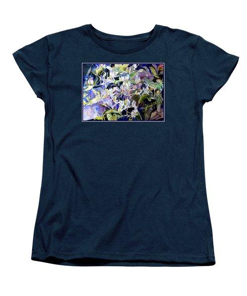 Honeysuckle Fairies Women's T-Shirt (Standard Cut) by Mindy Newman