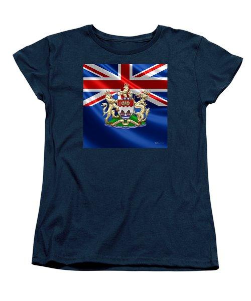 Hong Kong - 1959-1997 Coat Of Arms  Women's T-Shirt (Standard Cut) by Serge Averbukh