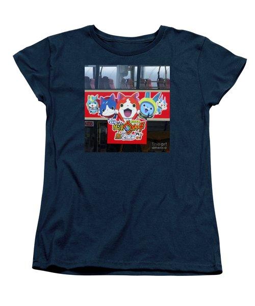 Women's T-Shirt (Standard Cut) featuring the photograph Hong Kong Bus by Randall Weidner