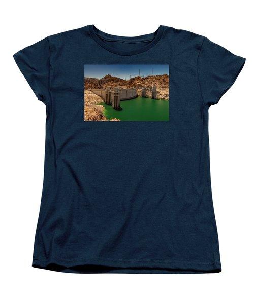 Hoover Dam Women's T-Shirt (Standard Cut) by Ed Clark