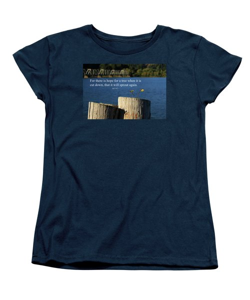 Hope For A Tree Women's T-Shirt (Standard Cut) by James Eddy