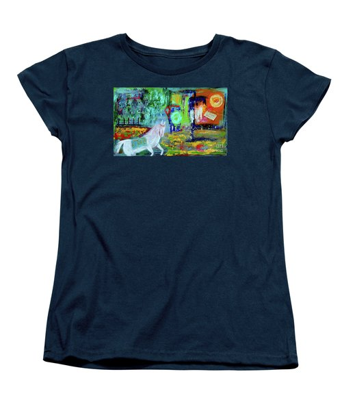Hope - White Rain Comes From Dark Clouds Women's T-Shirt (Standard Cut) by Haleh Mahbod