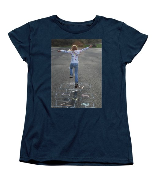 Women's T-Shirt (Standard Cut) featuring the photograph Hopscotch Queen by Richard Bryce and Family