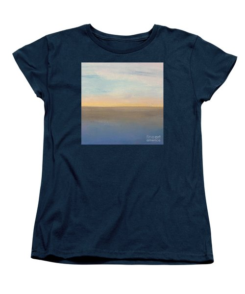 Women's T-Shirt (Standard Cut) featuring the painting Horizon Aglow by Kim Nelson