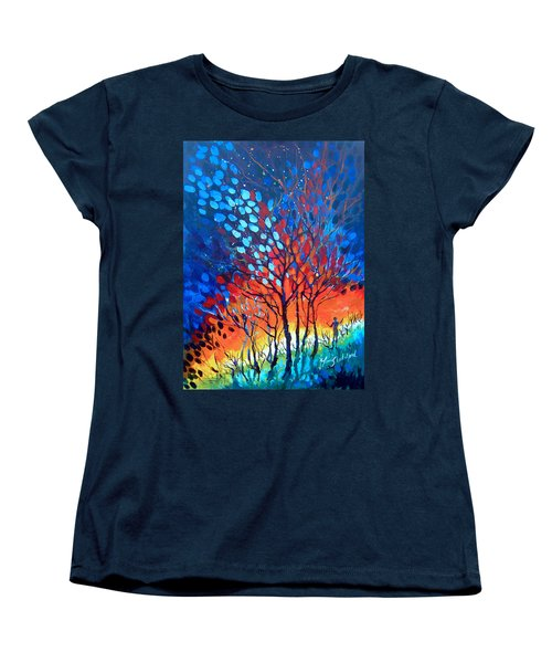 Women's T-Shirt (Standard Cut) featuring the painting Horizons by Linda Shackelford