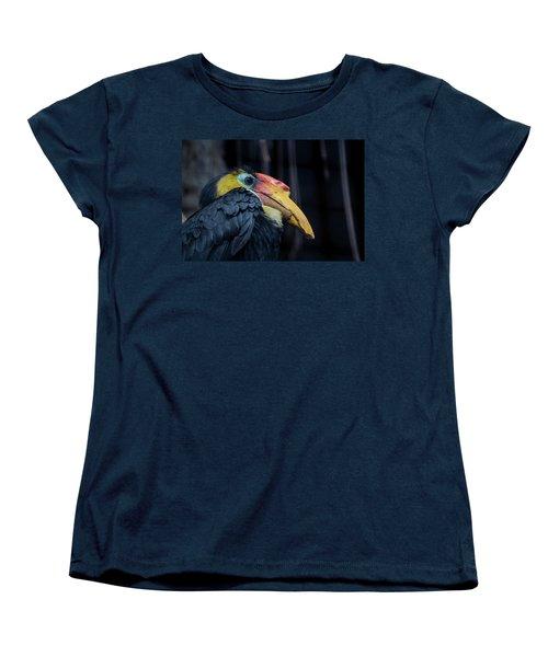 Hornbilled Bird Women's T-Shirt (Standard Cut) by Scott Lyons