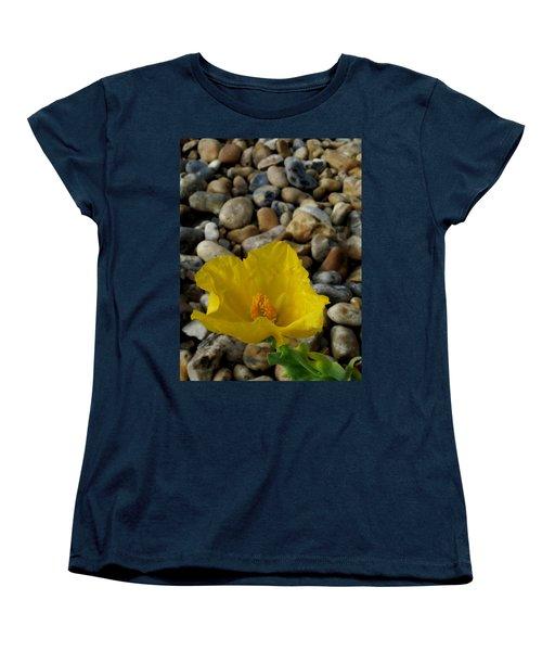 Horned Poppy And Pebbles Women's T-Shirt (Standard Cut) by John Topman