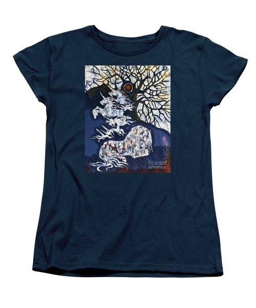 Horse Dreaming Below Trees Women's T-Shirt (Standard Cut)