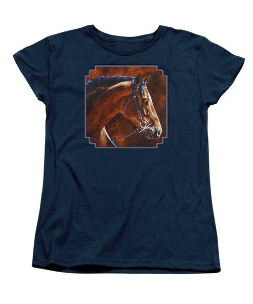 Horse Painting - Ziggy Women's T-Shirt (Standard Cut) by Crista Forest