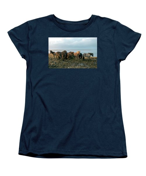 Horses In Iceland Women's T-Shirt (Standard Cut) by Dubi Roman