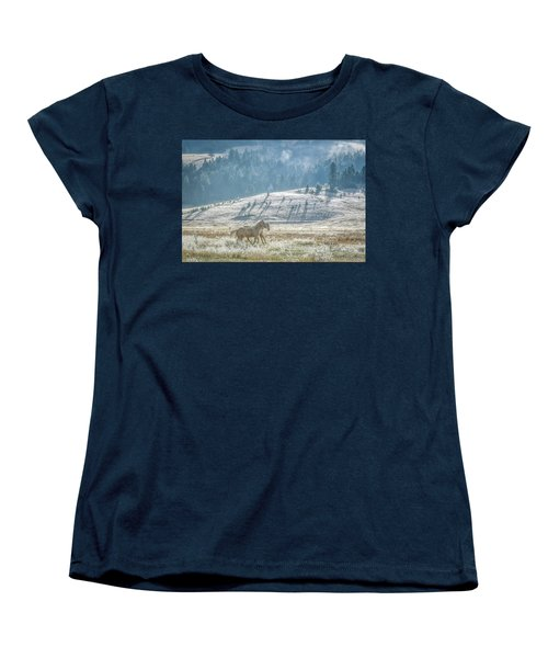 Horses In The Frost Women's T-Shirt (Standard Cut) by Keith Boone