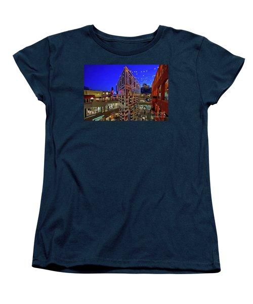 Horton Plaza Shopping Center Women's T-Shirt (Standard Cut) by Sam Antonio Photography