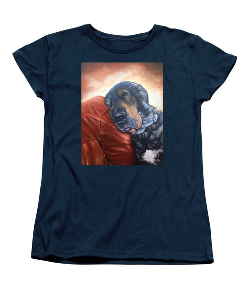 Women's T-Shirt (Standard Cut) featuring the painting Hoss by Mike Ivey