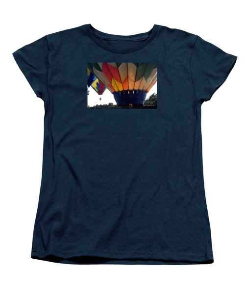Hot Air Balloon Women's T-Shirt (Standard Cut) by Debra Crank