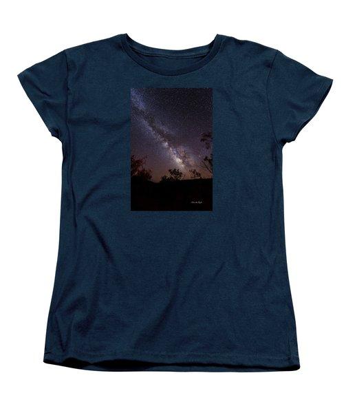 Hot August Night Under The Milky Way Women's T-Shirt (Standard Cut) by Karen Slagle