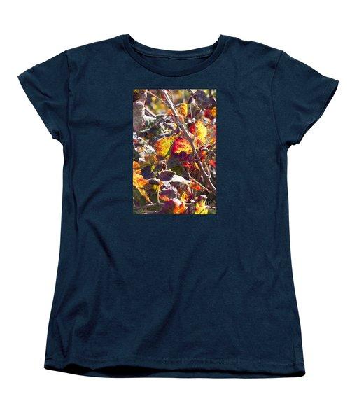 Hot Autumn Colors In The Vineyard 02 Women's T-Shirt (Standard Cut) by Arik Baltinester
