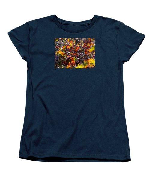 Hot Autumn Colors In The Vineyard 03 Women's T-Shirt (Standard Cut) by Arik Baltinester