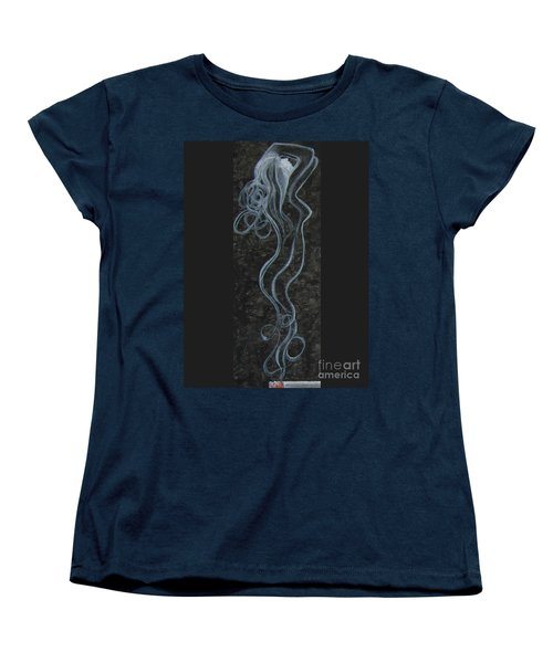 Women's T-Shirt (Standard Cut) featuring the painting Smoking Hot by Jeepee Aero