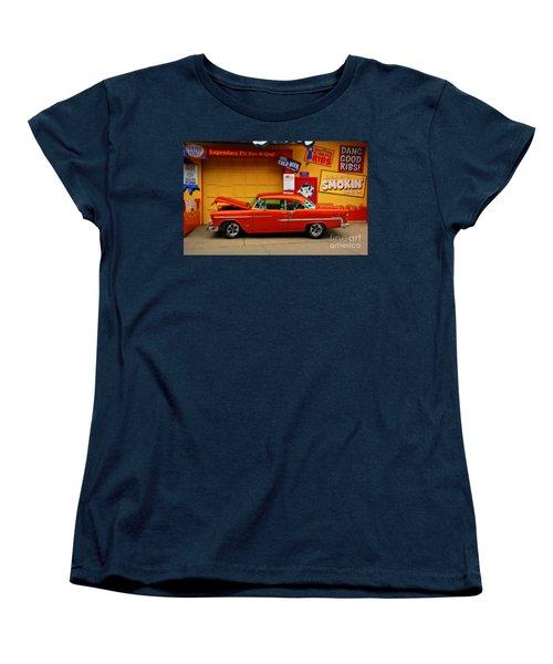 Hot Rod Bbq Women's T-Shirt (Standard Cut) by Perry Webster