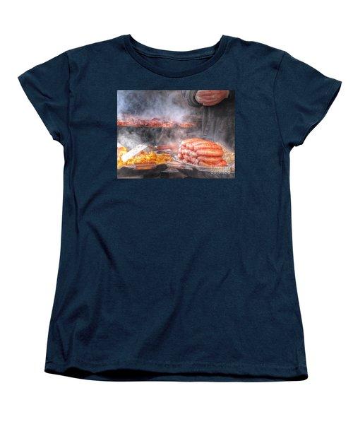 Hot Sausage Hot Dog Women's T-Shirt (Standard Cut) by Yury Bashkin