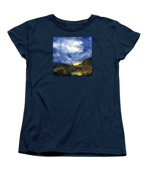 Hot Spots In Our Mountains Tonight Women's T-Shirt (Standard Cut) by Randy Sprout