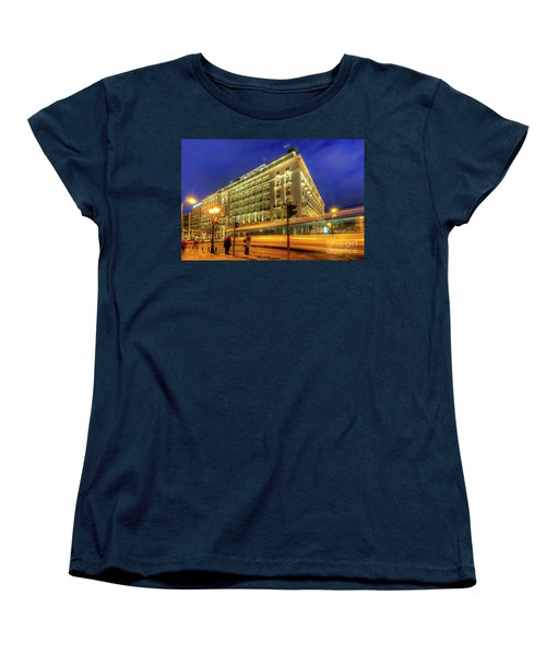 Women's T-Shirt (Standard Cut) featuring the photograph Hotel Grande Bretagne - Athens by Yhun Suarez