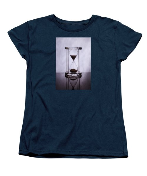 Hourglass - Time Slips Away Women's T-Shirt (Standard Cut) by Tom Mc Nemar
