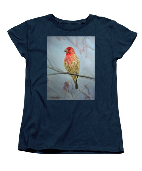 House Finch Women's T-Shirt (Standard Cut) by Marna Edwards Flavell