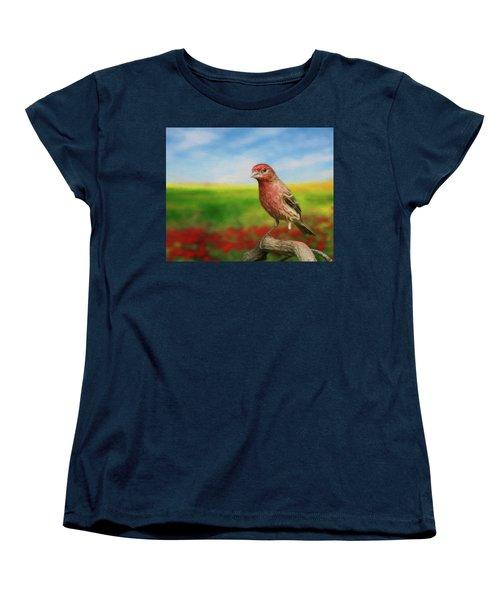House Finch Women's T-Shirt (Standard Cut) by Steven Richardson