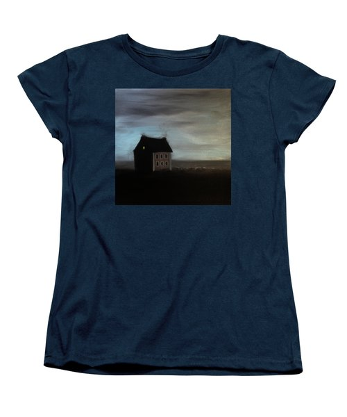 Women's T-Shirt (Standard Cut) featuring the painting House On The Praerie by Tone Aanderaa