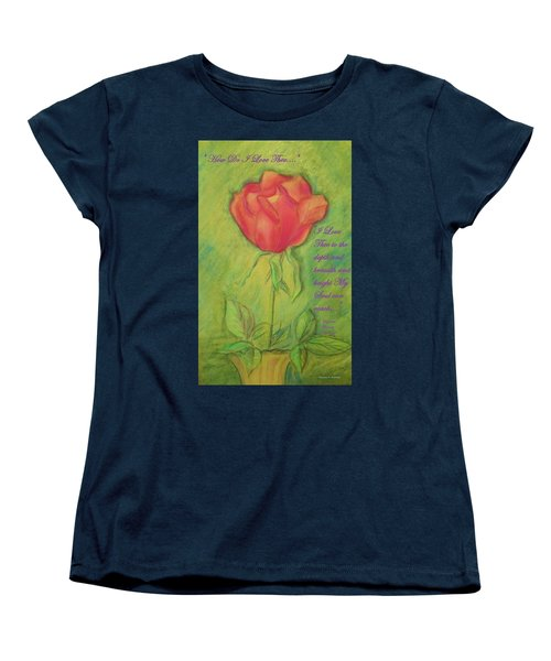 Women's T-Shirt (Standard Cut) featuring the drawing How Do I Love Thee ? by Denise Fulmer