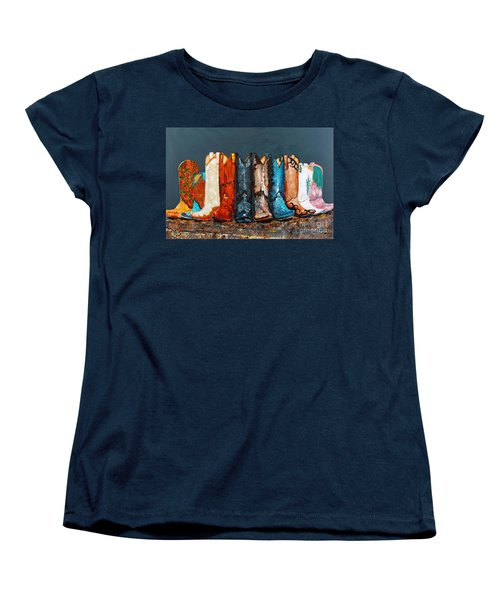 How The West Was Really Won Women's T-Shirt (Standard Cut) by Frances Marino