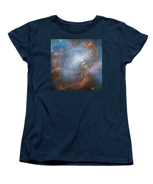 Women's T-Shirt (Standard Cut) featuring the photograph Hubble Captures The Beating Heart Of The Crab Nebula by Nasa