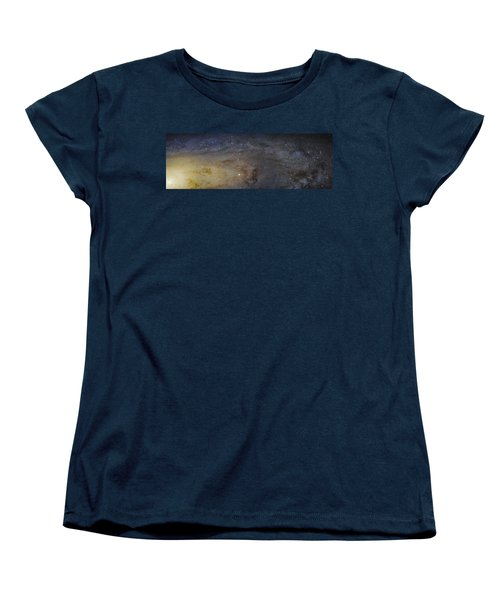 Women's T-Shirt (Standard Cut) featuring the photograph Hubble's High-definition Panoramic View Of The Andromeda Galaxy by Adam Romanowicz