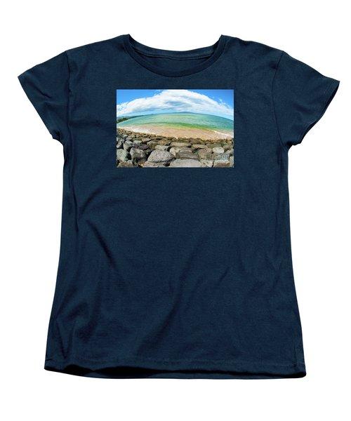 Women's T-Shirt (Standard Cut) featuring the photograph Huge Wikiki Beach by Micah May