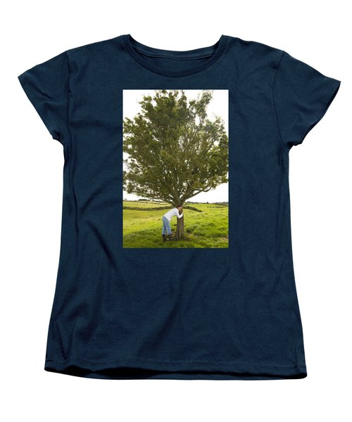 Women's T-Shirt (Standard Cut) featuring the photograph Hugging The Fairy Tree In Ireland by Ian Middleton