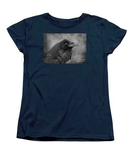 Women's T-Shirt (Standard Cut) featuring the photograph Huginn... by Nina Stavlund