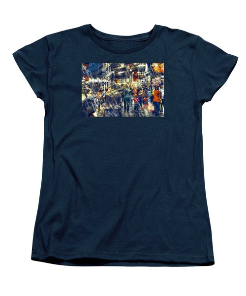 Women's T-Shirt (Standard Cut) featuring the photograph Human Traffic by Wayne Sherriff